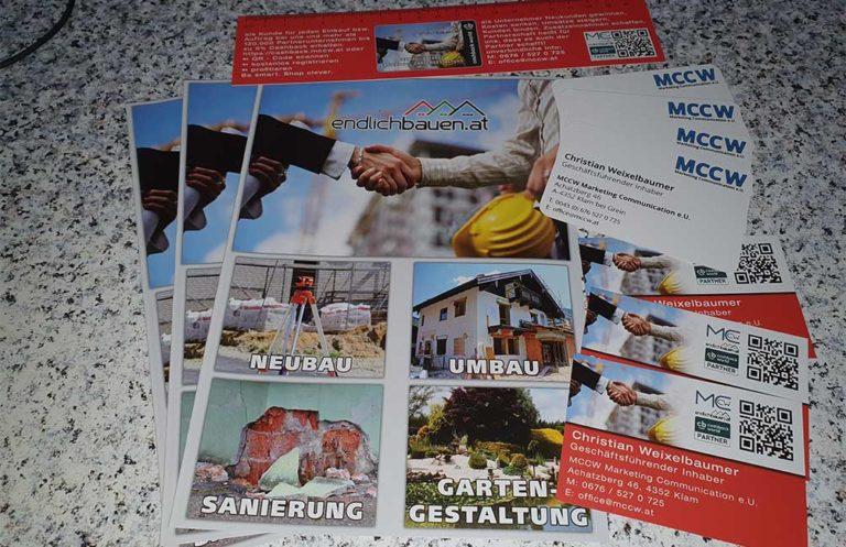 Drucksorten MCCW Marketing Communication e.U.